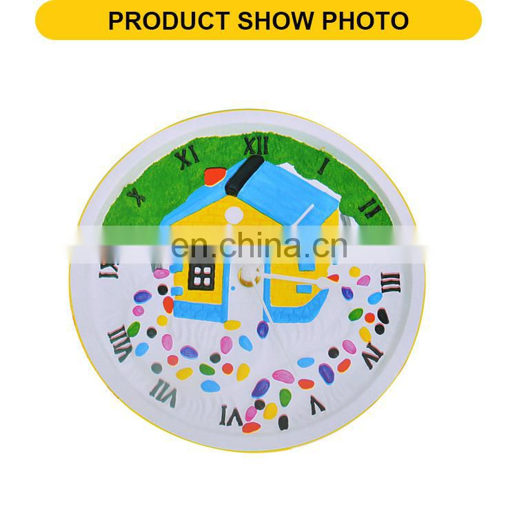 Top Popular Children DIY Clock Toys drawing Kids Toy diy wall clock