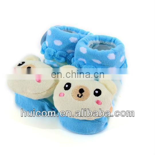 baby fashion animal head designs anti slip 3d baby socks