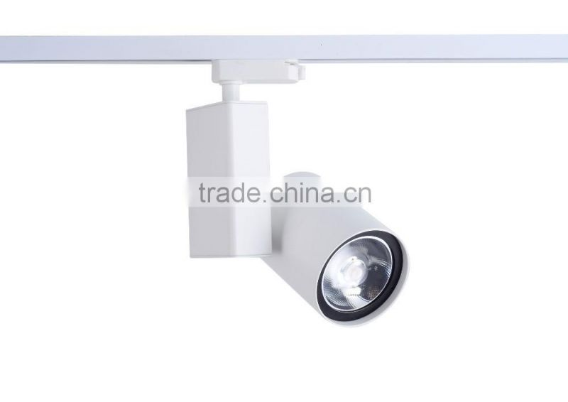 2016 New Product Hot Sale 3 wires 30W Gimbal LED COB Track Light, CE RoHS