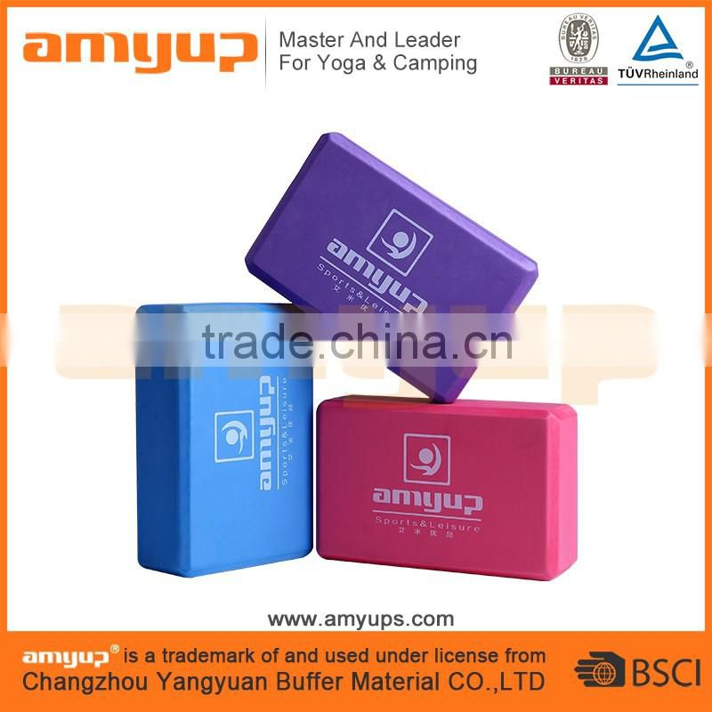 Eco-friendly EVA foam yoga block/exercise yoga brick/good quality eva wholesale yoga blocks