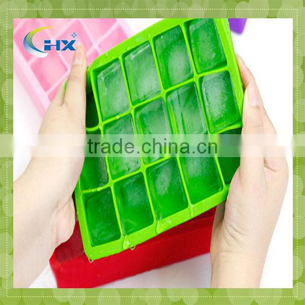 2014 diamond shape silicone ice cube tray of 5 colours