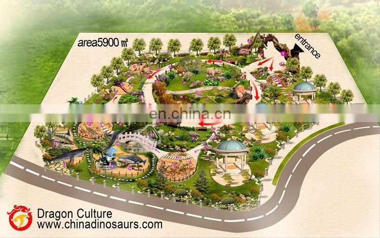 2015 hot sale amusement park outdoor playground simulation animal