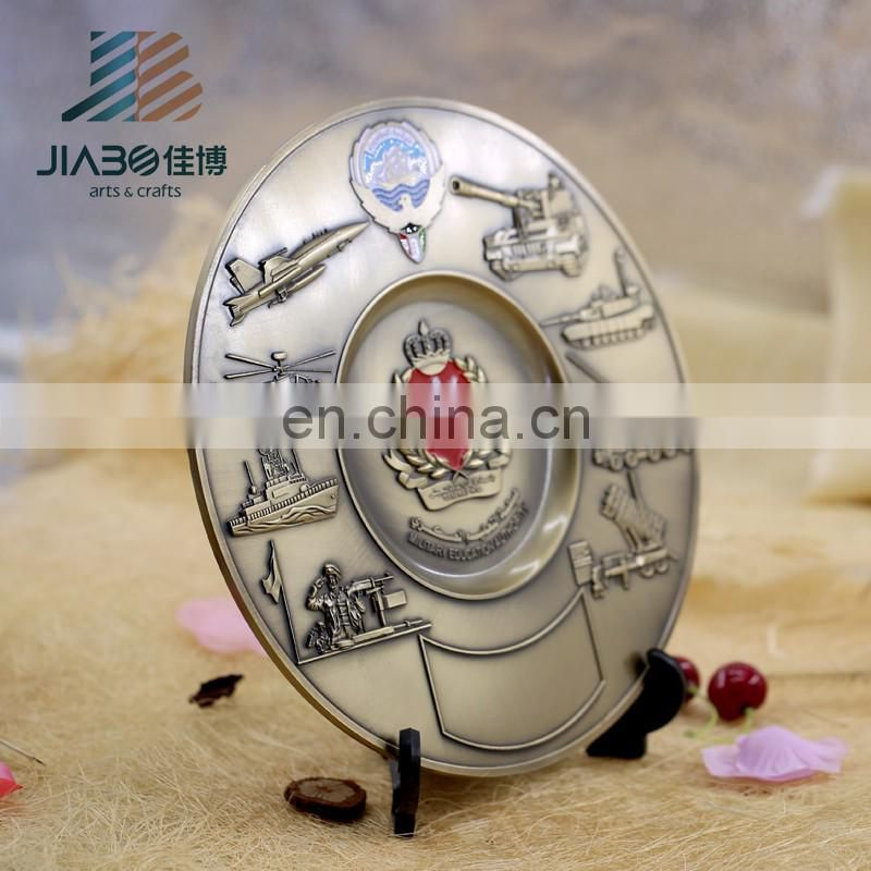 hot sell silver bronze plating custom logo souvenir metal plate