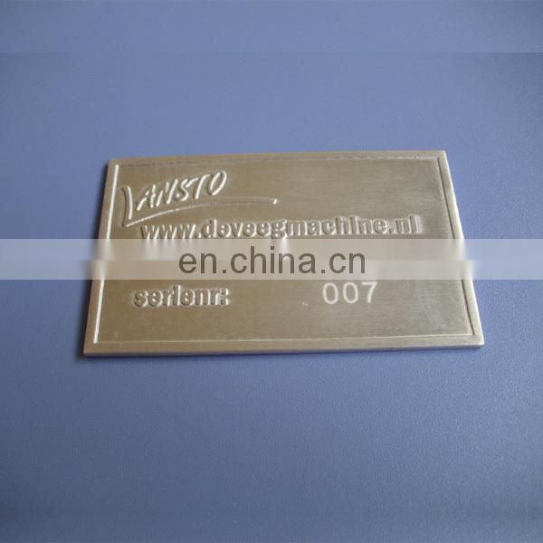 custom embossed letter metal aluminum labels