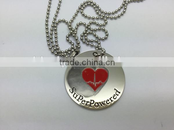 custom letters engraved dog tags for man