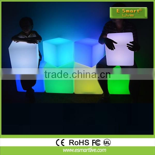 led cube seat lighting / outdoor led cube chair / led cube for event party wedding mini magic cube portable chair portable