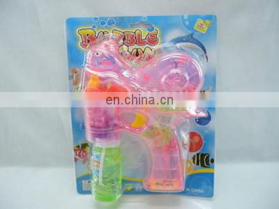 Kids plastic battery operated toy musical and led bubble gun