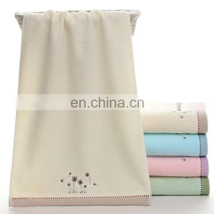 Luxury quality customized embroidery design 100% Cotton face Towel