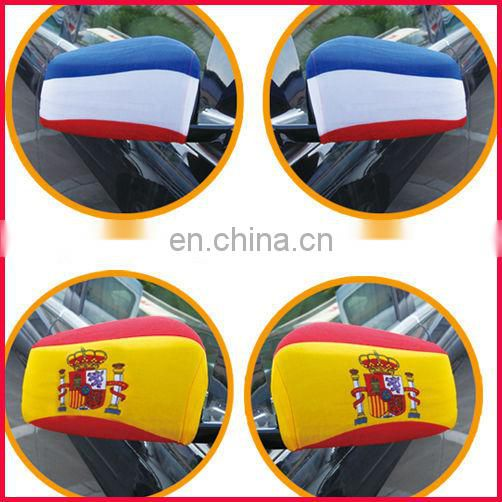 custom made advertising flag car mirror cover