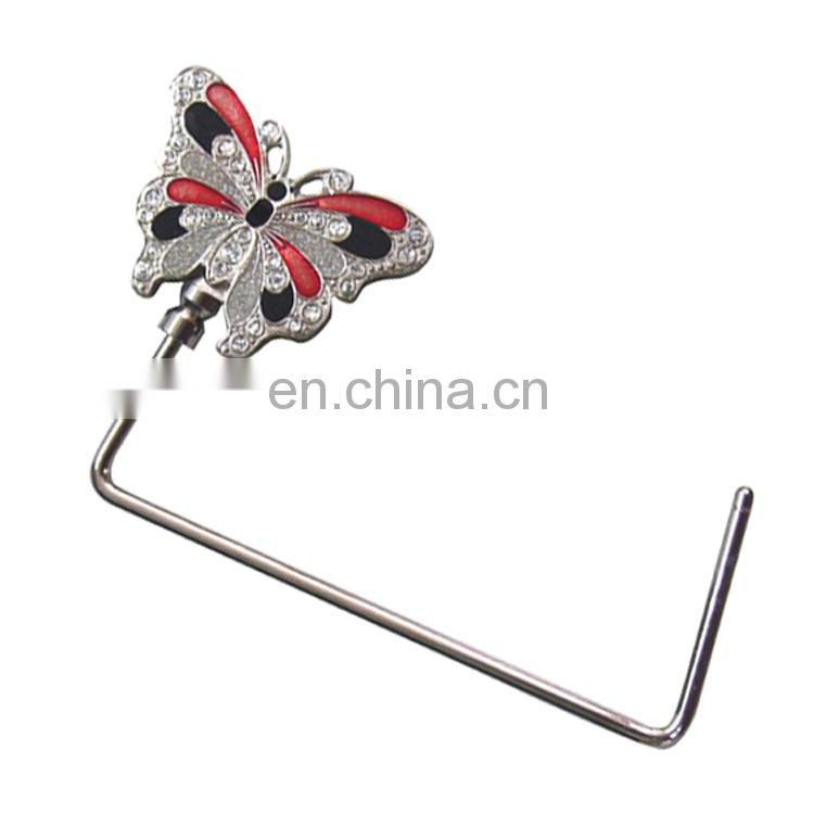Bag hanger with magnet foldable hello kitty table bag hanger