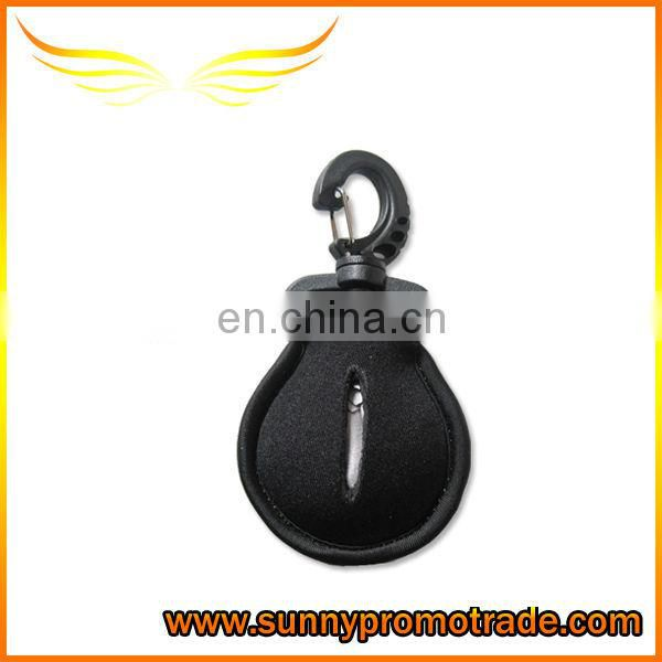Neoprene keychain with metal ring