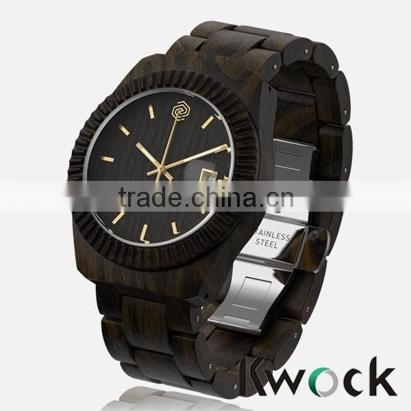 Kwock 2016 high quality watch,luxury watch,quartz natural bamboo watch for man