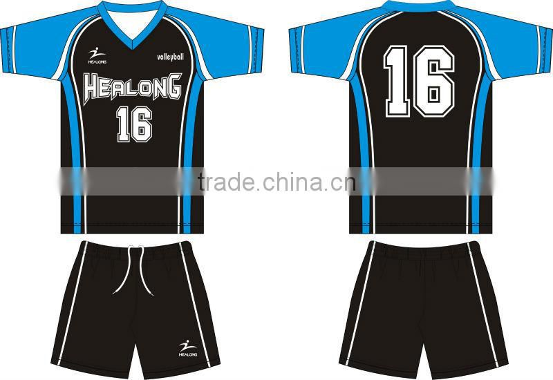 Official Size Custom Volleyball Jersey Uniform Designs For Men