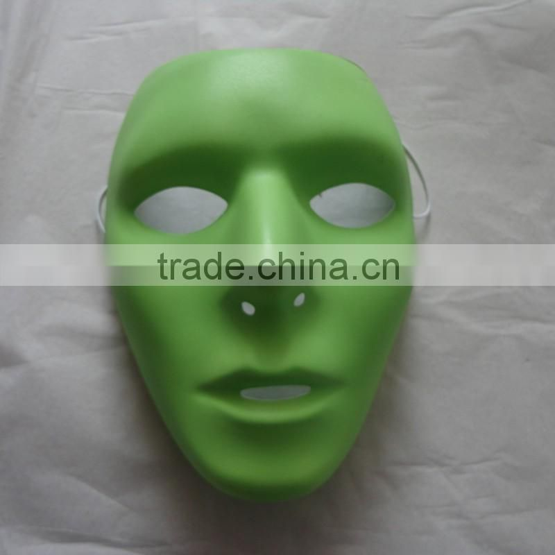 PVC terrible costume popular entertainment durable green fancy dress ball ghost evil mask Image