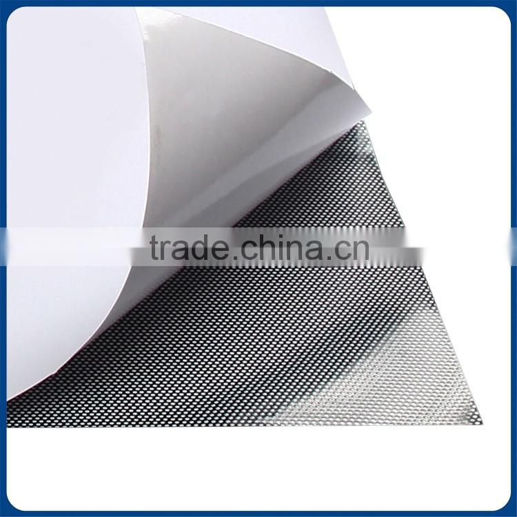 High Quality removable One Way Vision mesh decorative vinyl car film car sticker plastic film
