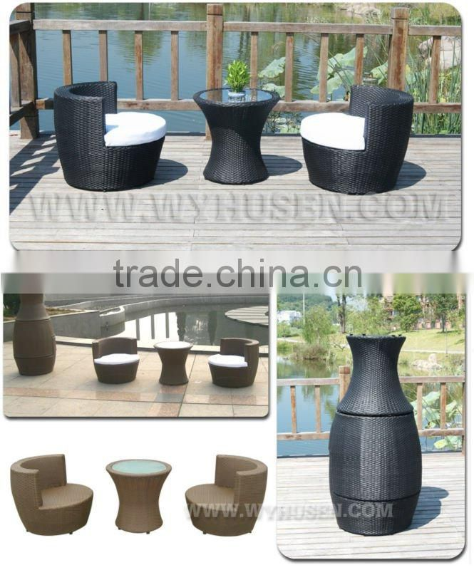 Environment and durable garden chairs with rattan outdoor furniture 2012