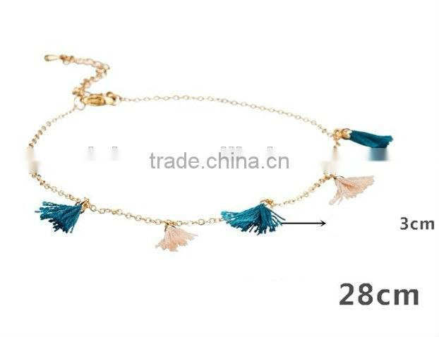2014 Fashion Costume Factory Wholesales Jewelry,Charms Anklet Body Jewerly,Alloy Chain Anklets Jewelry