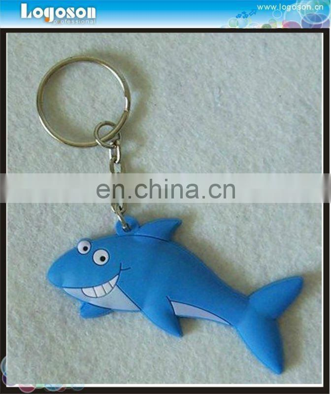 2016 Customized Logo Lovely Rubber Key Ring For Promotion