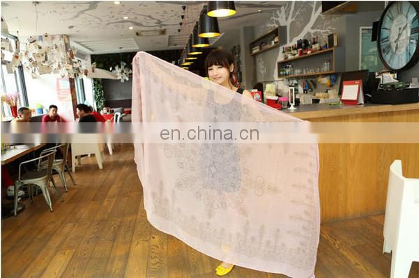 2014-2015 new voile printed scarf winter scarf cappa beach towel gradually changing color scarf