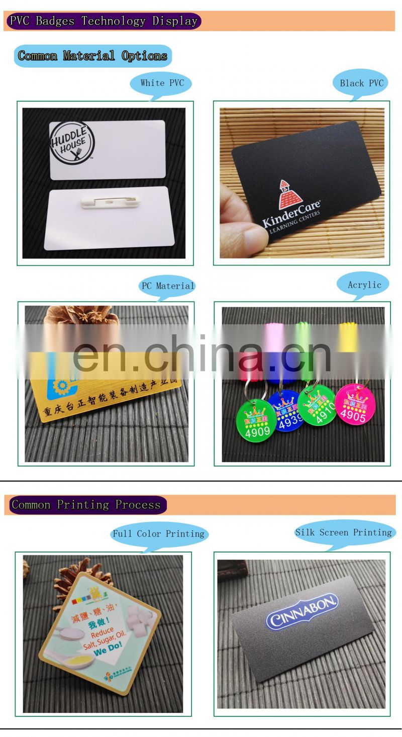 Custom Top Quality Shape Name Badges With Your Own Design