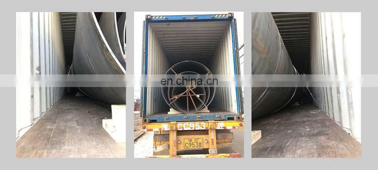 Carbon welded dia 24 inch double seam construction spiral steel pipe