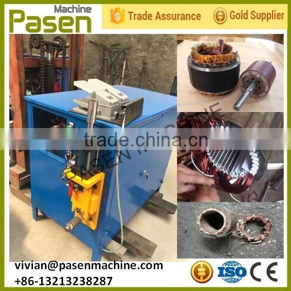 Semi auto copper electric motor dismentling machine to for Electric motor recycling machine