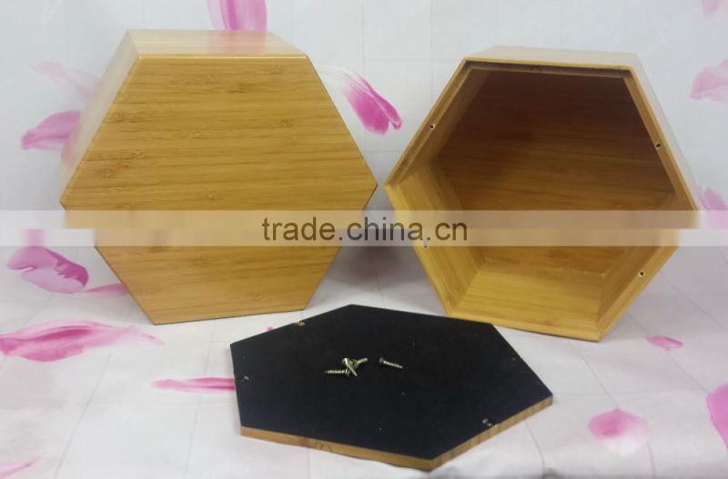 Competitive Bamboo diamond shape human urn with low price