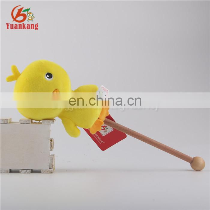 Innovative15cm little yellow stuffed chicken plush stick toy