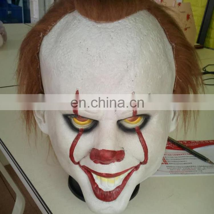 entertainment halloween prop Latex costume Scary Clown mask for party accessory