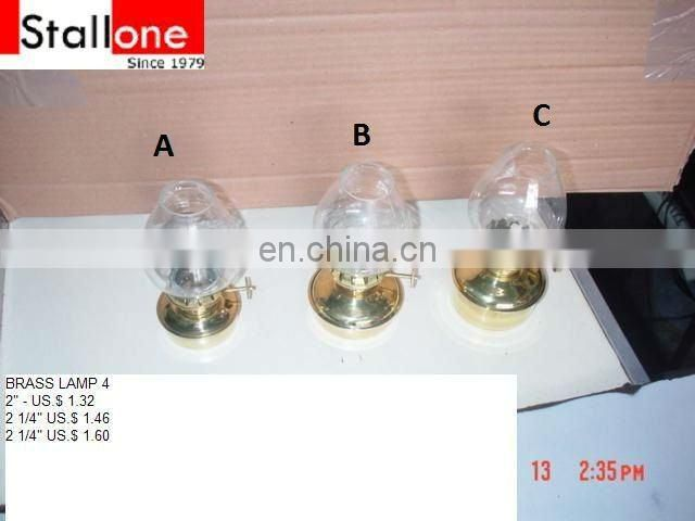 3 pcs Brass table lamp with chimny