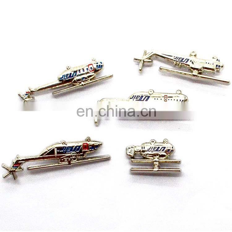 Free sample souvenir commemorative aircraft airplane stainless steel lapel pin