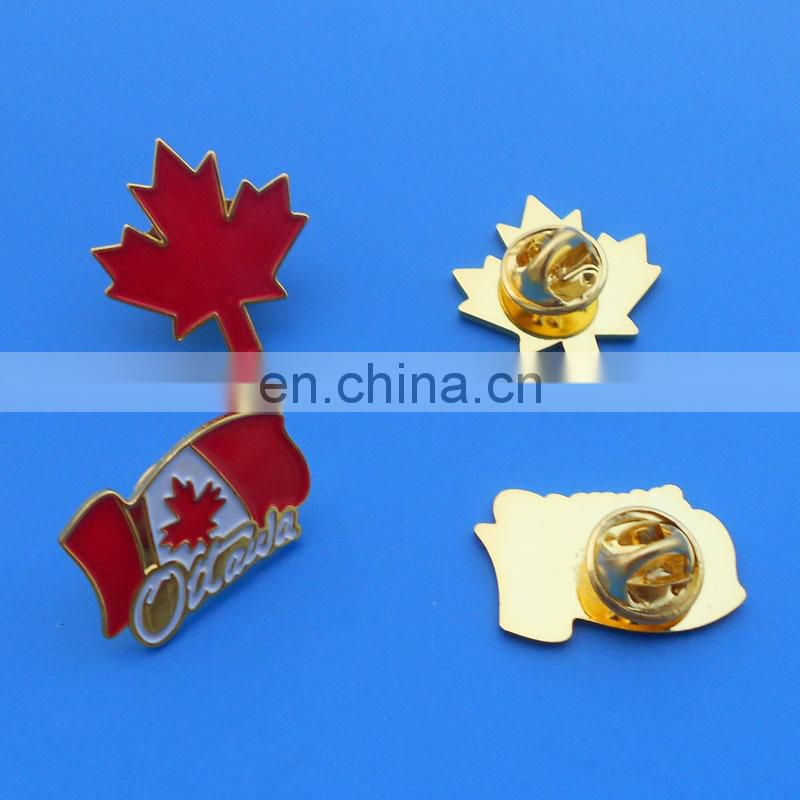national flag design holiday souvenir promotional gift customized soft enamel metal badge