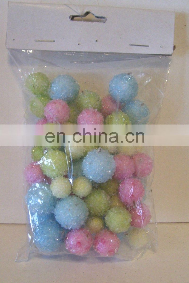 ICED BALLS EASTER SPRING DECORATION