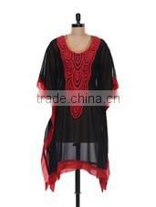 Indian Cotton Women Sexy Wear Kaftan Handmade Beach Wear Girls Short Caftan Fashionable Sexy Kurti Designer Women Top