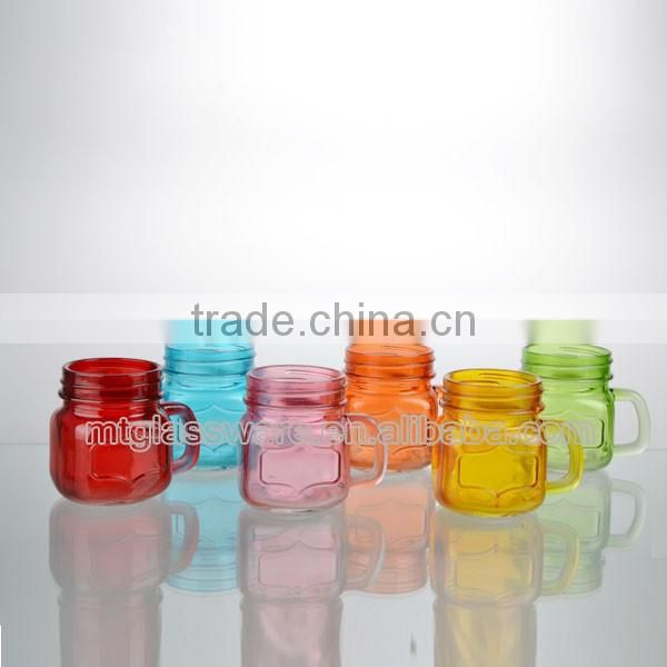 newset 6bright colorful cute mini mason jar with handle