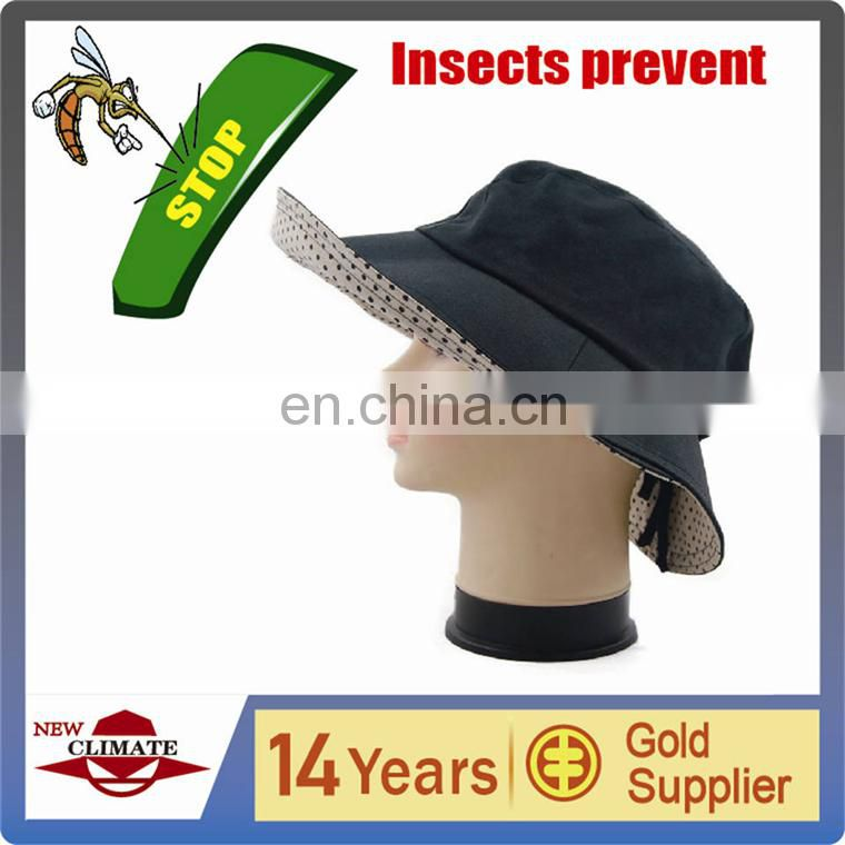 Fashion lady's hat with insect killer