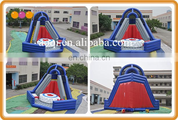exciting inflatable stunt jump platform, airbag jump and inflatable platform for adult