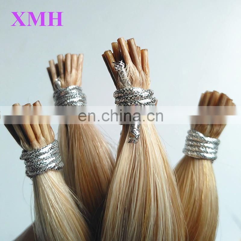 Direct factory wholesale pice remy double drawn i tip 100% virgin indian remy hair extensions pre bonded hair extension human