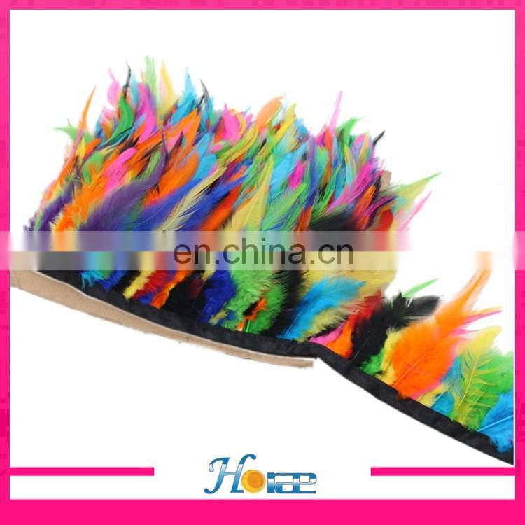 wholesale cheap feather trimming colorful feather fringe