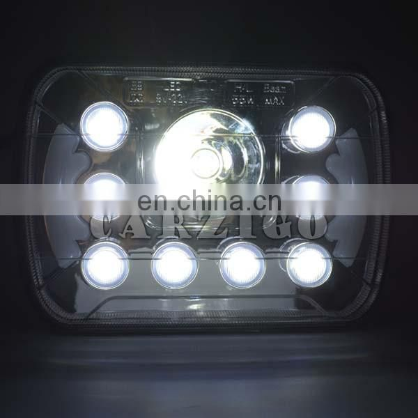"CZG-5755 55 watt 5*7"" white DRL daytime running assembly Emark 12v led headlight for jeep truck"