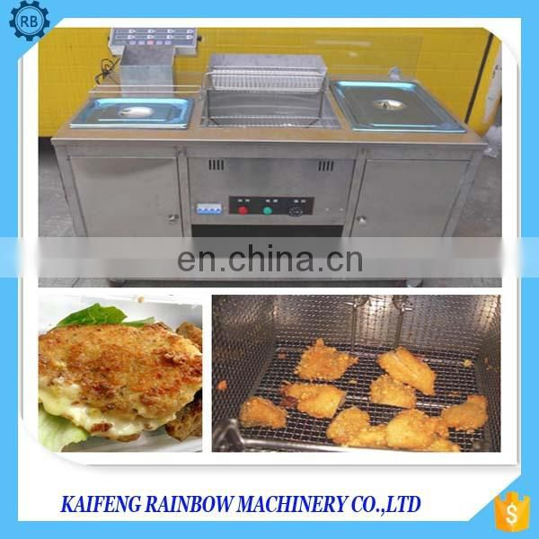 Low investment ,high yield goal fried chicken processing machine  fried chicken fryer machine in fast food production line