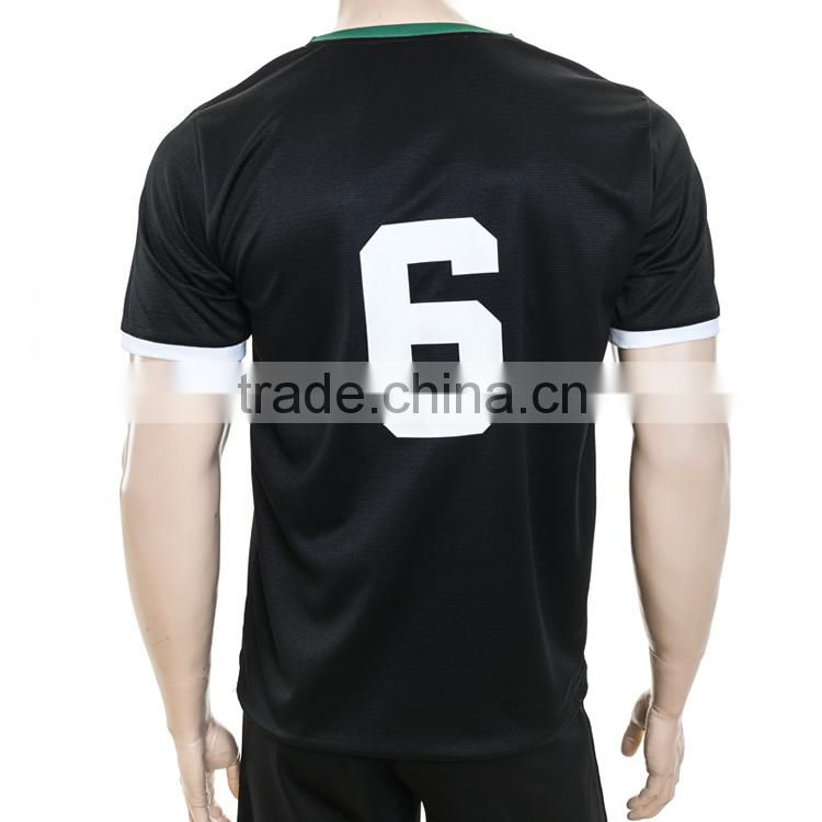 shirt sleeve NO.6 team all over printing sublimation football shirts custom college