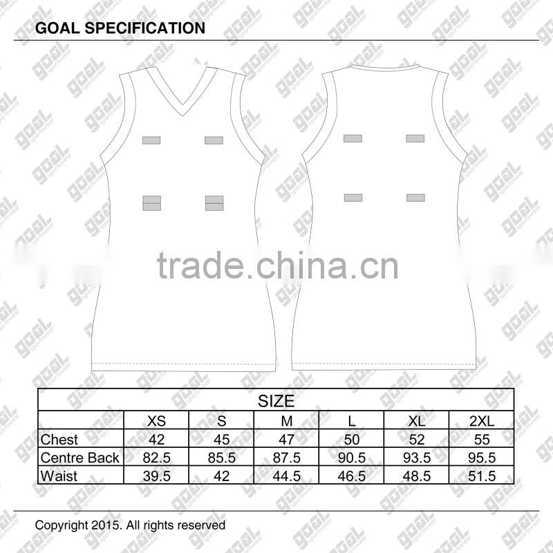 Top quality factory price latest cheap sublimation netball dress