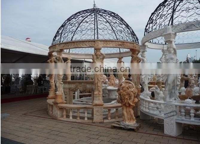 China garden large natural stone statue gazebo NTMG-231S