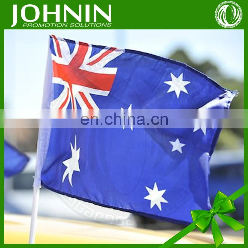 hot selling double side custom promotional flying national car flag