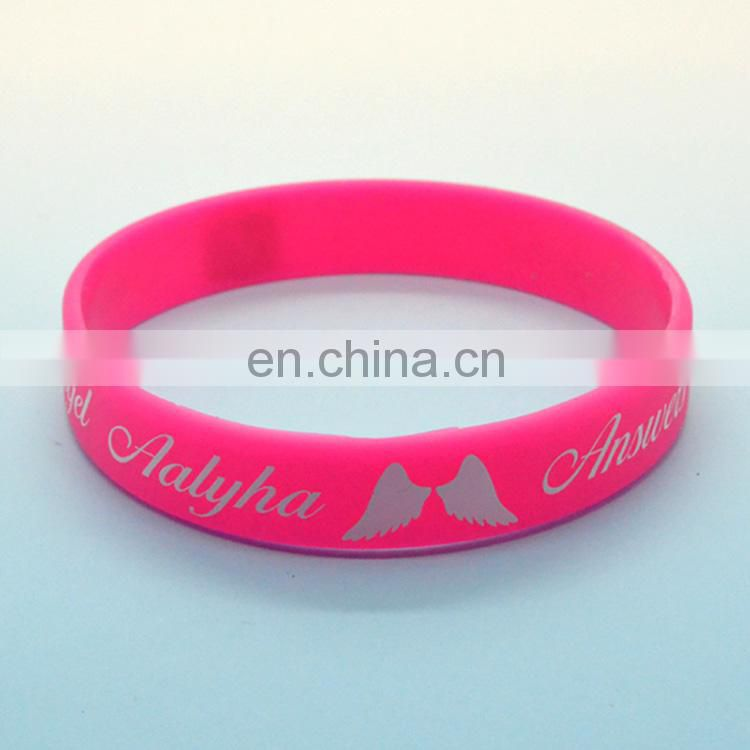 Custom logo silicone wristband,rubber wrist bands