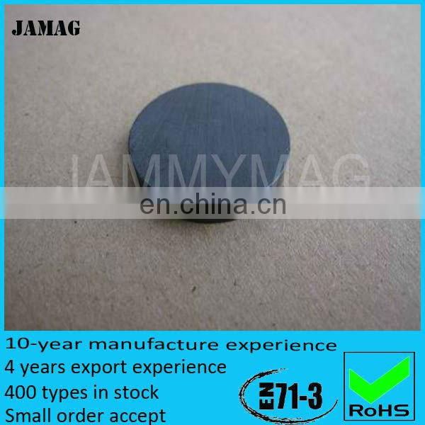 high quality colorful ferrite magnet button made in china
