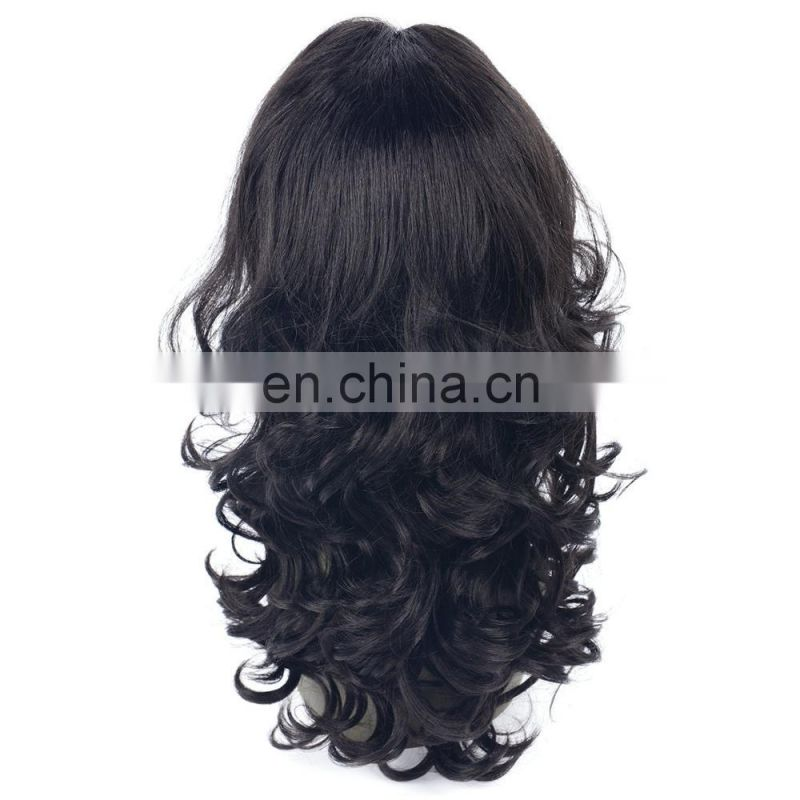 hot sell wavy synthetic wig cheap price synthetic wig with lace in front, more real synthetic lace front wig