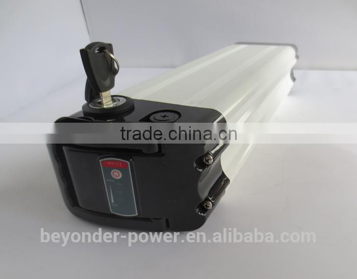 Beyonderpower silver fish lithium ion battery raw material/37v 10ah lithium battery for e-bike