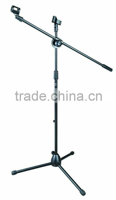 professional music black microphone stand refinforced nylon series BK-200